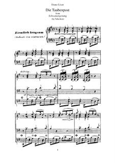 No.14 Die Taubenpost (The Pigeon Post): For piano by Franz Schubert
