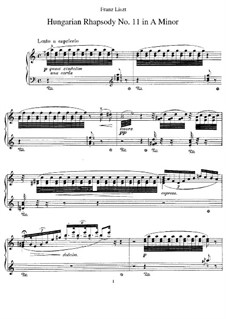 No.11 in A Minor, S.244: For piano by Franz Liszt