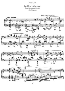 Isolde's Love Death: For piano by Richard Wagner