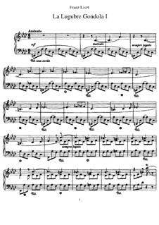 La lugubre gondola I, S.200/1: For piano by Franz Liszt