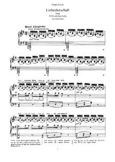 No.1 Liebesbotschaft (Message of Love): For piano by Franz Schubert