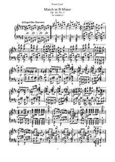 Transcriptions on Marches by Schubert, S.426: No.2 March in B Minor by Franz Liszt