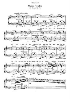 Six chants polonais. Transcriptions on Themes by Chopin, S.480: No.5 My Darling by Franz Liszt