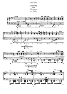 Transcription on Themes from 'Il Trovatore' by Verdi, S.433: For piano by Franz Liszt