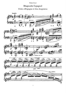 Rhapsodie Espagnole, S.254: For piano by Franz Liszt