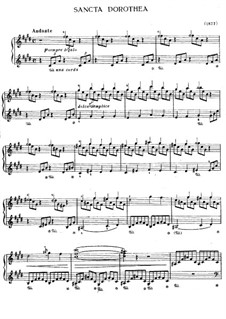 Sancta Dorothea, S.187: For piano by Franz Liszt
