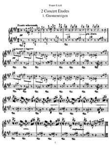 Two Concert Etudes, S.145: Complete set by Franz Liszt