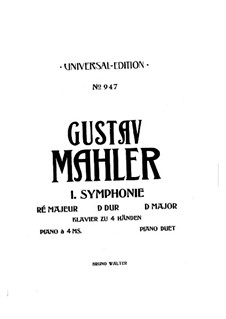Symphony No.1 in D Major 'Titan': Arrangement for piano – parts by Gustav Mahler