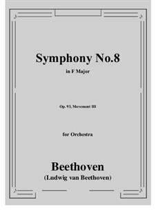 Movement III: Full score by Ludwig van Beethoven