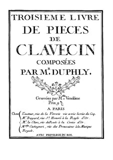 Collection Pieces for Harpsichord: Collection Pieces for Harpsichord by Jacques Du Phly