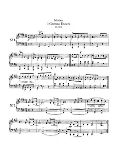 Three German Dances, D.973: For a single performer by Franz Schubert