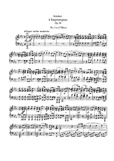 Four Impromptus for Piano, D.899 Op.90: Complete set by Franz Schubert