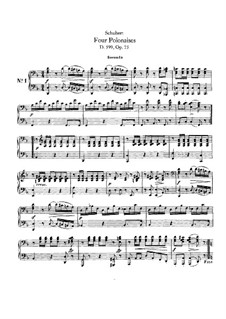 Four Polonaises for Piano Four Hands, D.599 Op.75: First part, second part by Franz Schubert