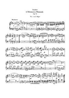 Six Musical Moments, D.780 Op.94: For piano by Franz Schubert