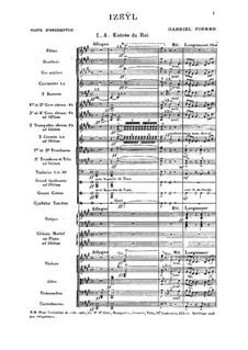 Izeÿl: Suite for orchestra by Gabriel Pierné