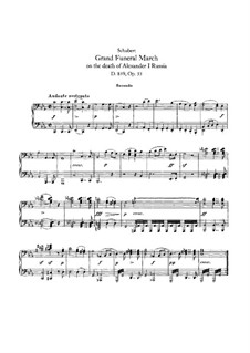 Funeral March for Piano Four Hands, D.859: First part, second part by Franz Schubert