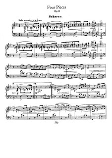 Four Pieces, Op.32: For piano by Robert Schumann