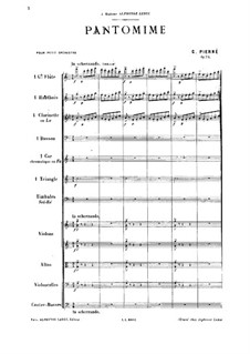 Pantomime, Op.24: Pantomime by Gabriel Pierné