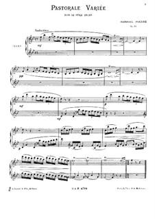 Pastorale variée, Op.30: For piano by Gabriel Pierné