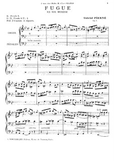 Fugue for Organ, Op.3: Fugue for Organ by Gabriel Pierné
