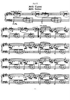 Fragments: Act II, for piano by Pyotr Tchaikovsky