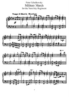 Military March, TH 150: For piano by Pyotr Tchaikovsky