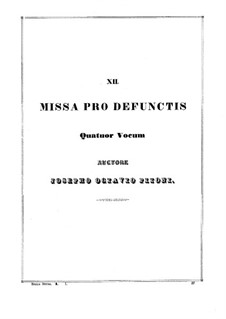 Missa pro defunctis: Movement I by Giuseppe Pitoni