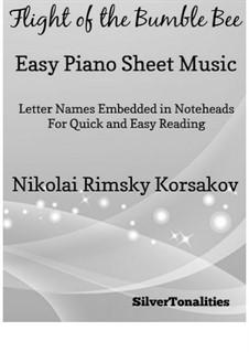 Flight of the Bumblebee: For easy piano by Nikolai Rimsky-Korsakov