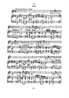 No.22 Mut (Courage): For voice and piano by Franz Schubert