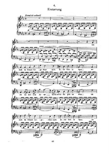 No.4 Erstarrung (Numbness): For voice and piano by Franz Schubert