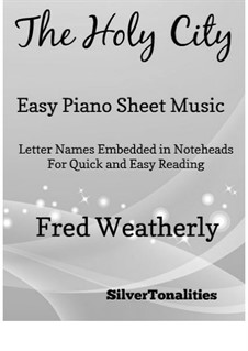 The Holy City: For easy piano by Stephen Adams
