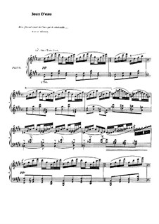 Jeux d'eau, M.30: For piano by Maurice Ravel