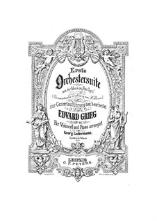 Suite No.1, Op.46: Arrangement for cello and piano by Edvard Grieg