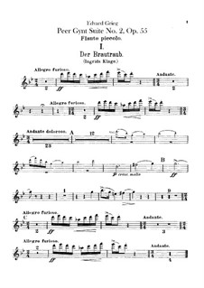 Suite No.2, Op.55: Flutes parts by Edvard Grieg
