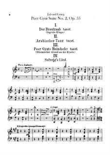 Suite No.2, Op.55: Harp part by Edvard Grieg