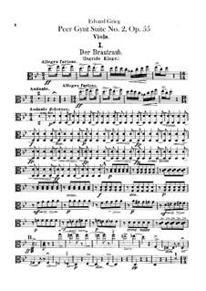 Suite No.2, Op.55: Violas parts by Edvard Grieg