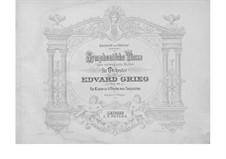 Four Symphonic Dances, Op.64: For piano four hands by Edvard Grieg