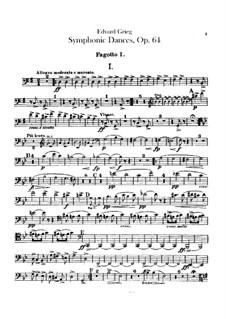 Four Symphonic Dances, Op.64: Bassoons parts by Edvard Grieg