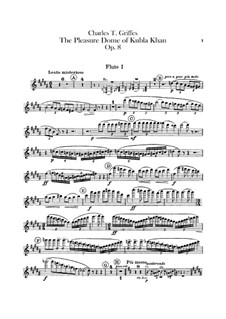 The Pleasure Dome of Kubla Khan, Op.8: Flutes parts by Charles Tomlinson Griffes