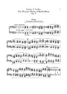 The Pleasure Dome of Kubla Khan, Op.8: Piano part by Charles Tomlinson Griffes