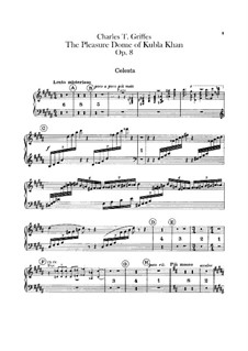 The Pleasure Dome of Kubla Khan, Op.8: Celesta part by Charles Tomlinson Griffes
