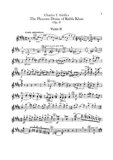 The Pleasure Dome of Kubla Khan, Op.8: Violins II part by Charles Tomlinson Griffes