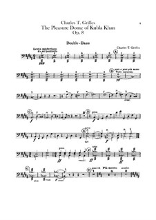 The Pleasure Dome of Kubla Khan, Op.8: Double bass part by Charles Tomlinson Griffes