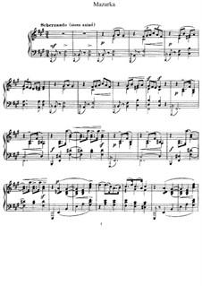 Mazurka in F Sharp Minor, L.67: For piano by Claude Debussy