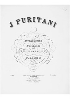Introduction and Polonaise on Themes from 'I Puritani' by Bellini, S.391: Introduction and Polonaise on Themes from 'I Puritani' by Bellini by Franz Liszt