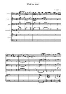 No.3 Clair de lune: For quintet (D Flat Major) by Claude Debussy
