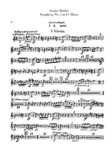 Symphony No.5 in C Sharp Minor: Horns parts by Gustav Mahler