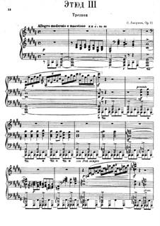 Twelve Transcendental Etudes, Op.11: No.3 Carillon by Sergei Lyapunov