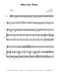 Were You There: For french horn solo and piano by folklore