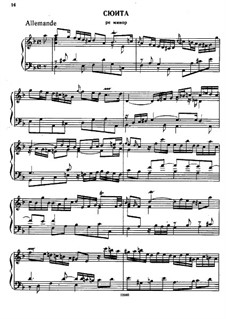 Suite No.3 in D Minor, HWV 436: For piano by Georg Friedrich Händel